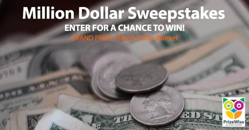 Enter sweepstakes to win money