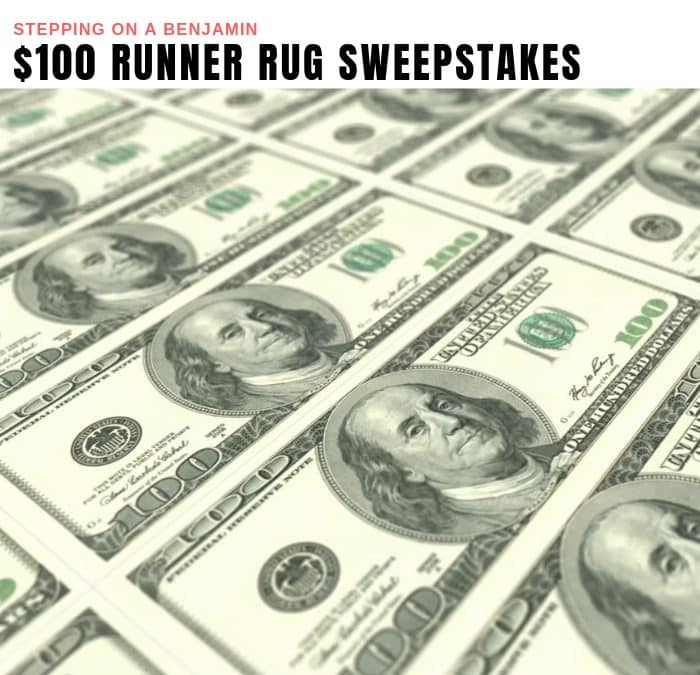 $100 Runner Rug Sweepstakes