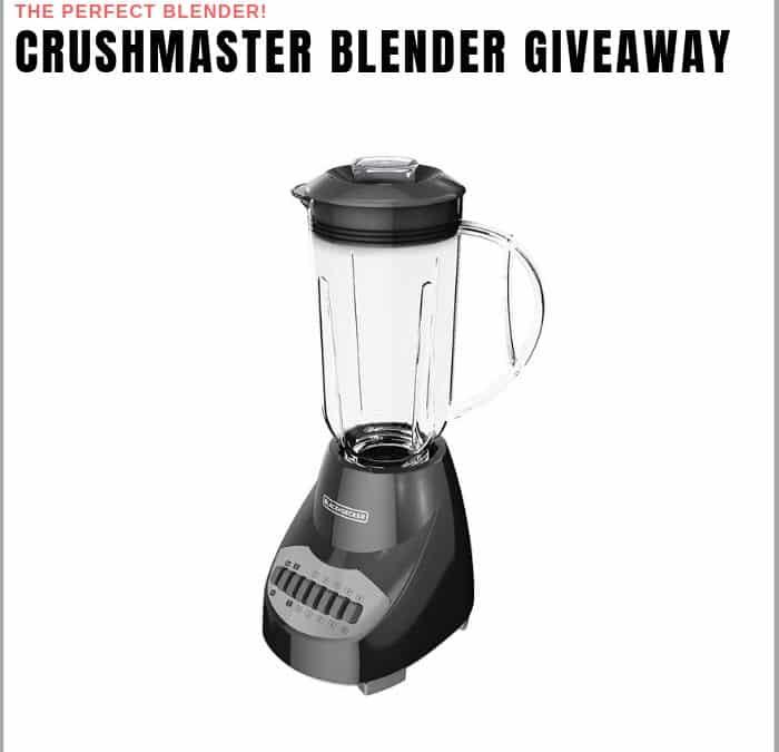 Crushmaster Blender Sweepstakes
