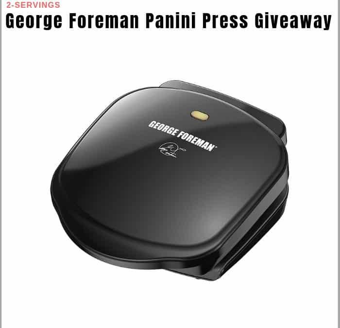 George Foreman Panini Press Sweepstakes